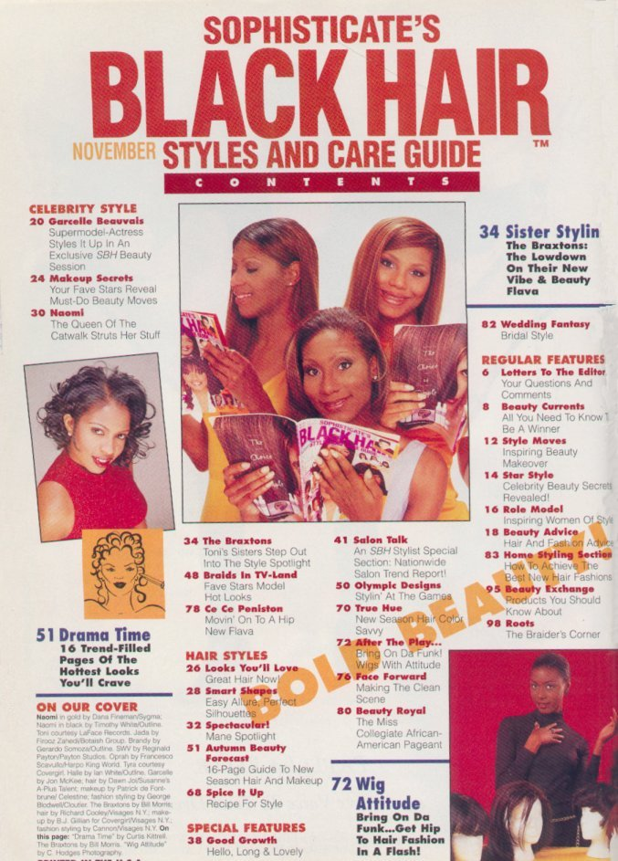 Beyonce graces Black Hair magazine December 2008 issue.